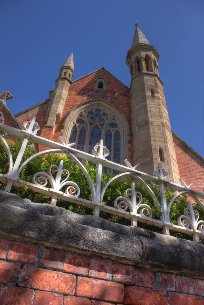 church at Milsons Point - tonemapped