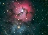 M20 – Trifid Nebula L – 6x5min + R – 3x5min + G – 2x5min + B – 2x5min GSO RC6 / Atik 314L+ / EQ6